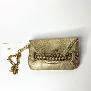Cache Gold Envelope Clutch
